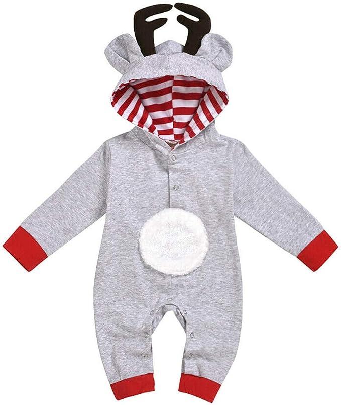 Amazon.com: Mono de manga larga con capucha para bebé o niña ...