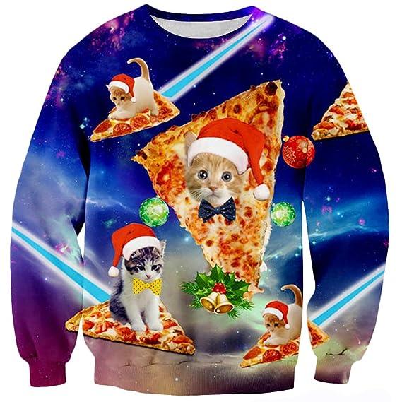 Loveternal Unisex Christmas Jumper 3D Imprimi Navidad Sudadera con Capucha Xmas Pullover Ugly Sweater S-XXL: Amazon.es: Ropa y accesorios
