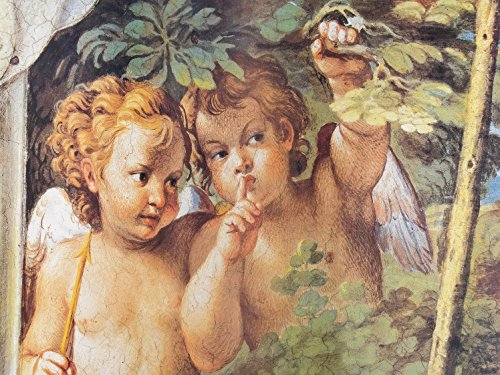 1art1® Annibale Carracci Poster Photo Wallpaper - Whispering Angels, Detail From Diana And Endymion, 1597, 2 Parts (95 x 71 inches) (Cherub Wallpaper)
