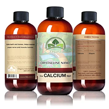 The BEST Calcium Mineral Supplement - Nano Size Calcium Single Mineral Supplement - Liquid Calcium Absorbs