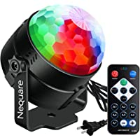 (ONLY SOLD BY Nequare)Disco Lights Sound Activated Strobe Light Disco Ball Dj Lights Party Lights Xmas 7colors Disco light Disco Party Lights Show for Christmas Parties DJ Karaoke Wedding Outdoor with Remote