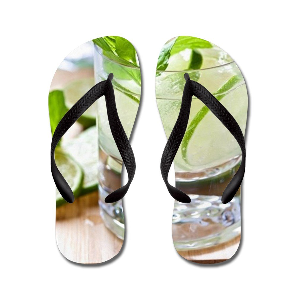 CafePress Mojito Cocktail In A Glass - Flip Flops, Funny Thong Sandals, Beach Sandals