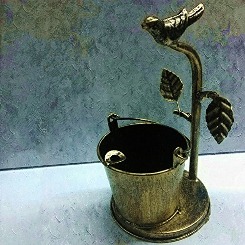 HICBOX Retro ashtray creative personality iron bird home decoration drum (copper)
