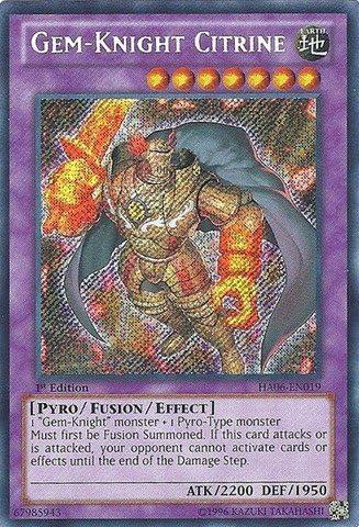 HA06-EN019-1st Edition Secret Gem-Knight Citrine Yugioh