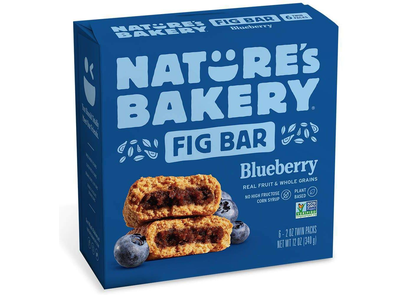 Nature's Bakery Blueberry Real Fruit, Whole Grain Fig Bar - 6 ct. (12 oz.) by Nature's Bakery FB