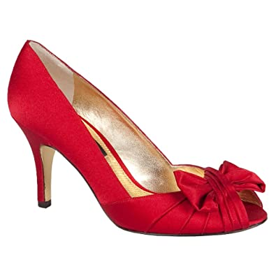 Nina Womens Forbes Peep Toe Classic Pumps, Red Rouge, Size 8.5