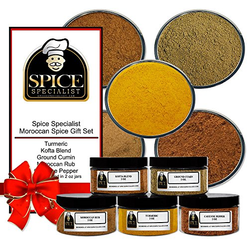 Spice Specialist's Moroccan Spice Gift Set- Contains 5 - 2 oz.Jars - Moroccan Rub