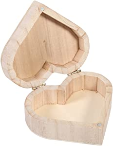Heart-Shaped Wooden Storage Box, Lovely Jewelry Organizer Box Jewelry Case for Home Storage Decoration