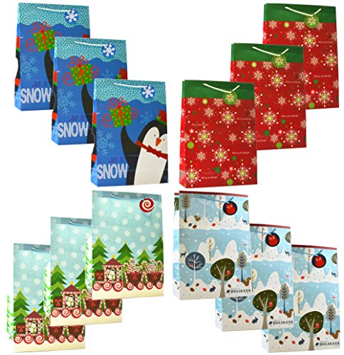Christmas X-Large Gift Bags 12 Pack