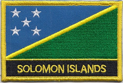 - Solomon Islands Country Flag Embroidered Blazer Badge Patch