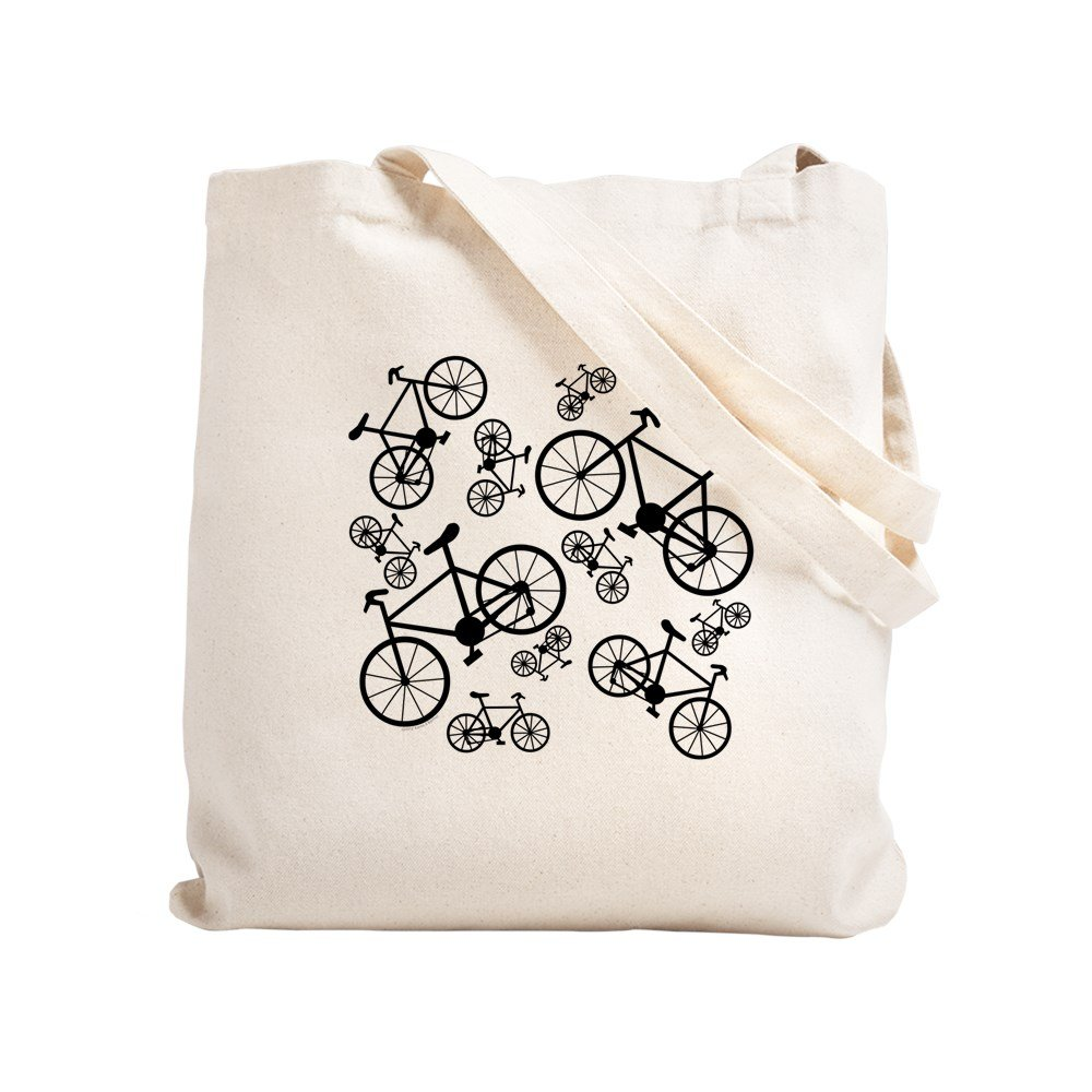4a14ad503 Amazon.com: CafePress - Bicycles Big And Small - Natural Canvas Tote Bag,  Cloth Shopping Bag: Kitchen & Dining