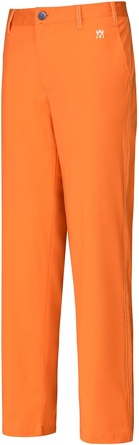 Lesmart Men's Golf Pants Stretch Slim Straight Tech Performance Relaxed Fit Chino Pant: Clothing