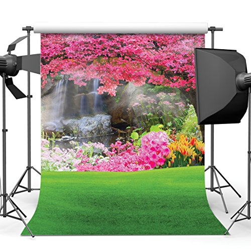 SJOLOON 10X10FT Spring Scenery Pictorial Cloth Customized Photography Backdrop Photo Background Studio Prop ()