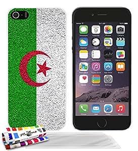 """Carcasa Rigida Ultra-Slim APPLE IPHONE 5 de exclusivo motivo [Algerie Bandera] [Blanca] de MUZZANO  + 3 Pelliculas de Pantalla """"UltraClear"""" + ESTILETE y PAÑO MUZZANO REGALADOS - La Protección Antigolpes ULTIMA, ELEGANTE Y DURADERA para su APPLE IPHONE 5"""