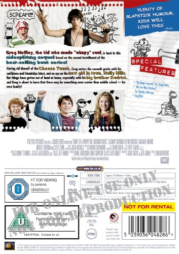 Amazon Com Diary Of A Wimpy Kid 2 Rodrick Rules Dvd Movies Tv