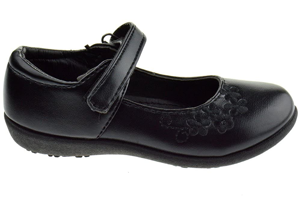 JELLY BEANS Uniform Little Girls Ballerina School Shoes Black