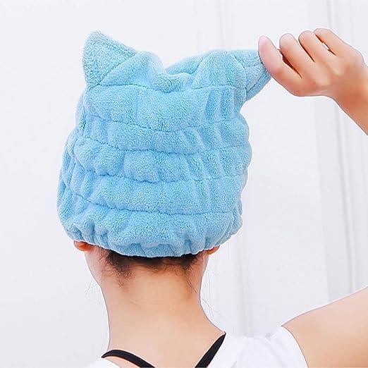Amazon.com : Microfiber Hair Drying Towels, Cute Bath Towel Wrap, Ultra Soft Absorbent Hair Dry Hat Cap, Quick Drying Bath Cap for Women Adults or Kids ...