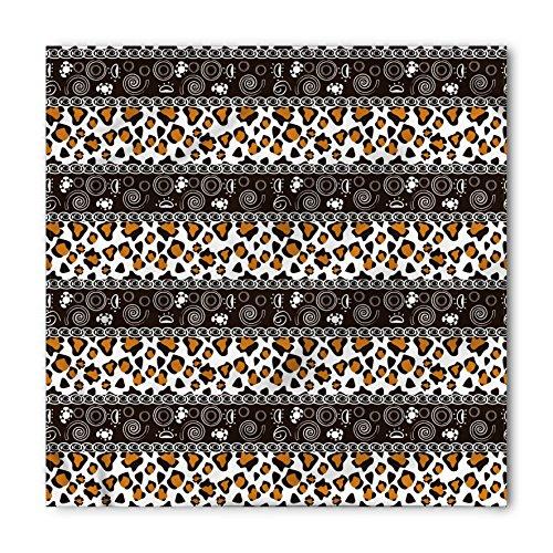(Ambesonne Unisex Bandana, Zambia African Cheetah Pattern, Brown Orange )