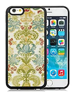 iPhone 6 Case,Colorful Damask Black For iPhone 6(4.7) Case