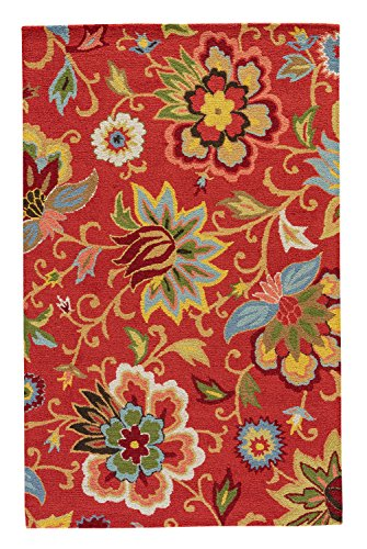 Jaipur Living Zamora Hand-Tufted Floral & Leaves Red Area Rug (3'6