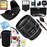 Canon EF 24mm f/2.8 IS USM Lens (5345B002) + 64GB Ultimate Filter & Flash Photography Bundle