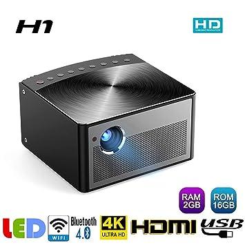 htfrgeds Proyector DLP 3D (980ANSI lúmenes, 3D, HDMI, Bluetooth 4 ...
