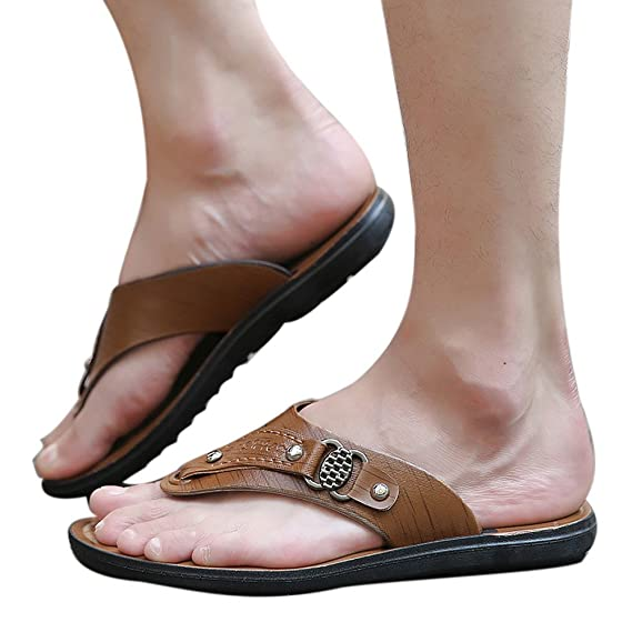 b35141b77096 The Long Shop Men s Flip-Flop Thong Sandals Light Weight Beach Slippers  Size 7-