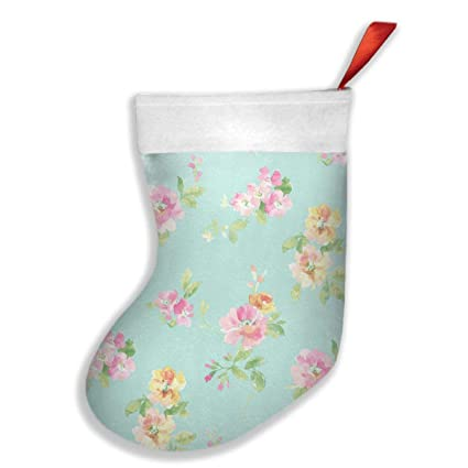 qiffan22 aqua floral christmas stockingsxmas stockingchristmas decorationsclassic xmas stocks for