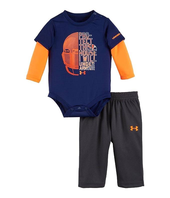 f986bc149 Amazon.com  Under Armour Newborn Boys` Bodysuit and Pant Set  Clothing