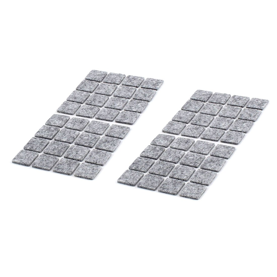sourcingmap® Table Chair Legs Square Self Adhesive Furniture Felt Pads Cover Protector 18 x 18mm 64pcs Gray a16051100ux0793