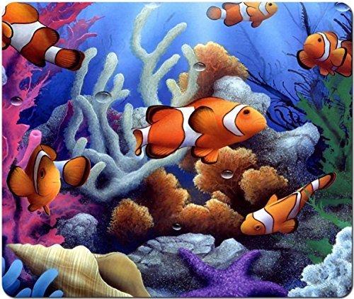 Price comparison product image Cartoon Clown Fish Salt Water Ocean Scene Computer Mouse Pad