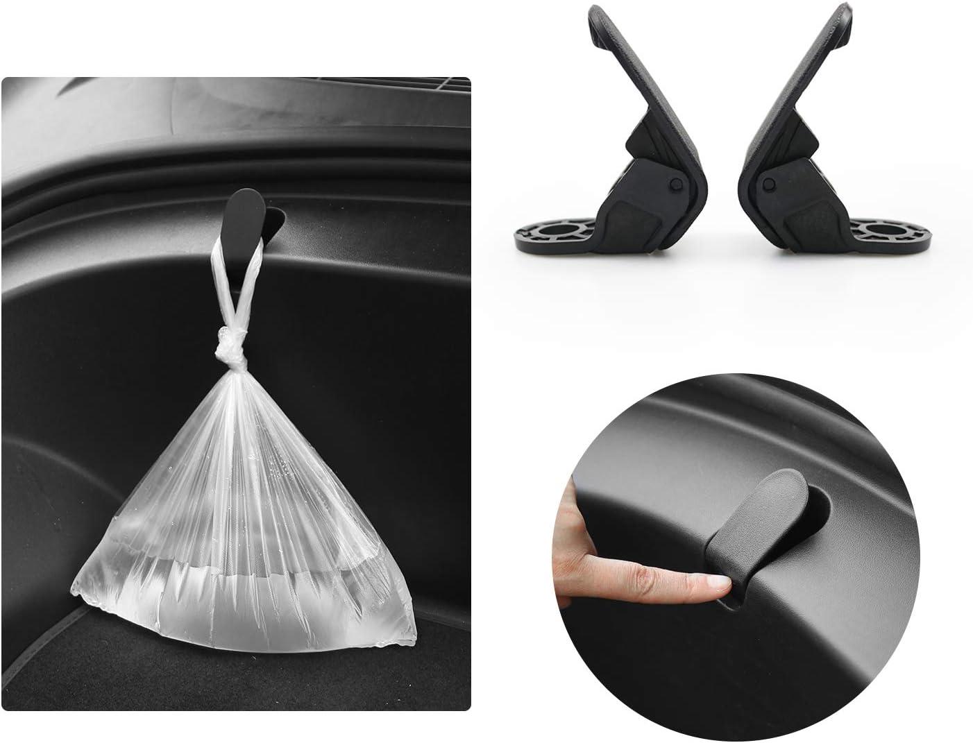 Front Trunk Bag Hooks for 2020 Tesla Model 3 Frunk Hooks Clip Bolt Covers Grocery Bag Cargo Hook Cover 2PCS