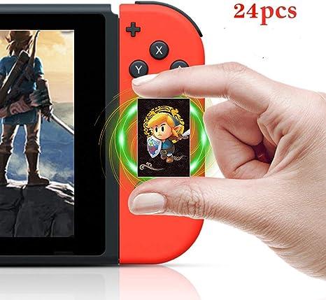 Zelda Series Breath of The Wild/Link s Awakening NFC Etiquetas Juego Tarjetas – 24 Piezas Mini Tarjetas con Caja de Cristal: Amazon.es: Electrónica