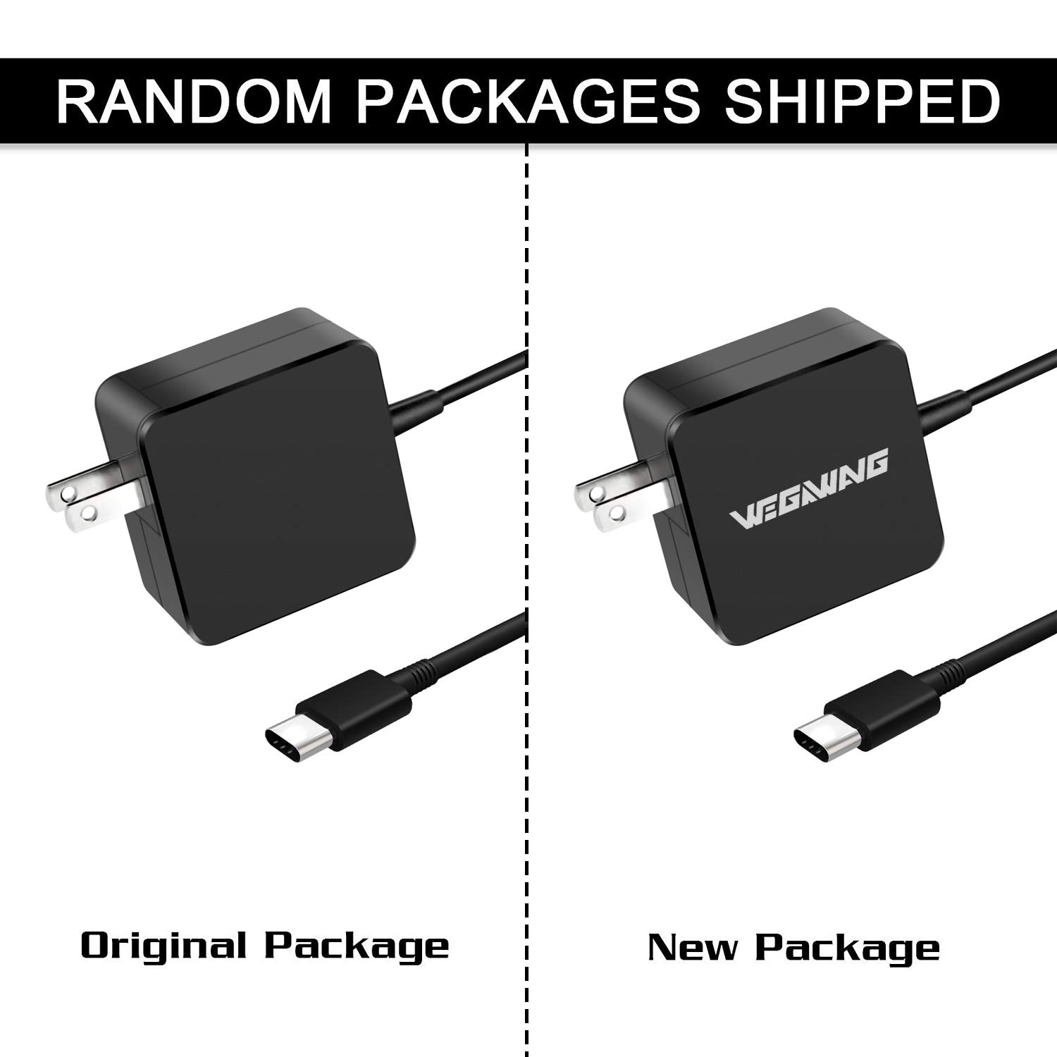 87W/90W USB-C Adapter Charger, WEGWANG Type C Power Adapter Charger 87W(Automatically Compatible with 61W, 45W, 30W and 12W Device) for MacBook/Pro and Any Laptops or Smart Phones with USB C by WEGWANG (Image #2)