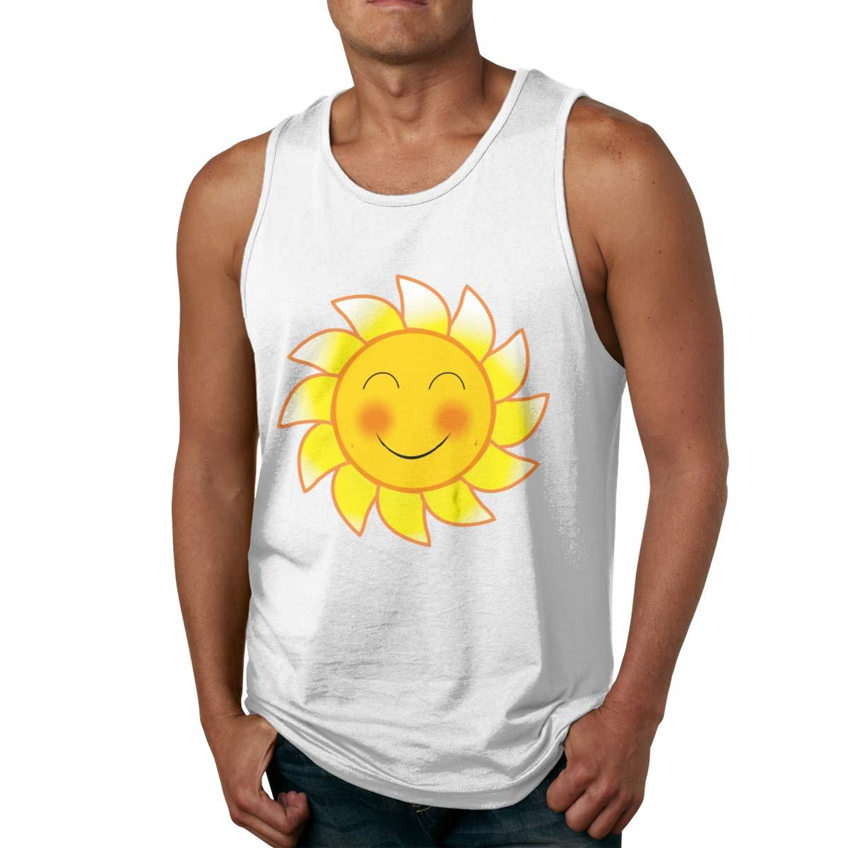 Seuriamin Smile Blushing Sun Expression S Fashion Hiking Sleeveless Tank Top Ts Shirts