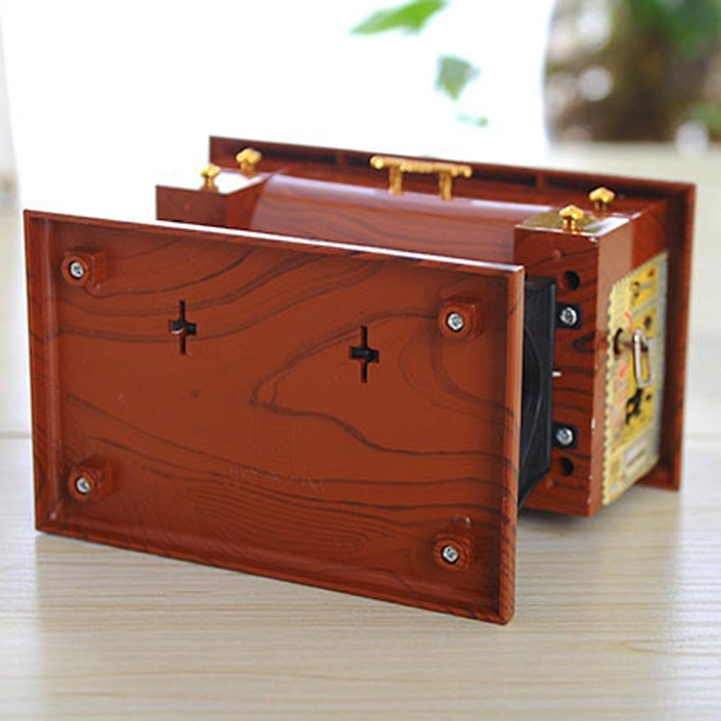 hunpta Vintage de estilo caja de música mini máquina de coser mecánica regalo de cumpleaños Decoración de la mesa: Amazon.es: Hogar