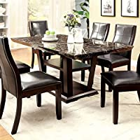 247SHOPATHOME Idf-3933T-7PC Dining-Room, 9-piece Set, Dark Cherry