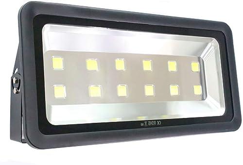 LED floodlight Waterproof Lighting-AI YONG Outdoor LED Lighting 600w LED Spotlight 6000k Daylight White 100 Aluminum Life 50,000 Hours for Courtyard, Garage, Basketball Court Lighting