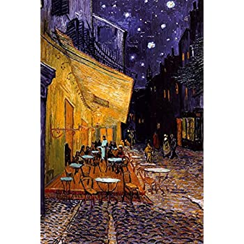 The Café Terrace on the Place du Forum, Arles, at Night, c.1888 Poster by Vincent van Gogh 24 x 36in with Poster Hanger