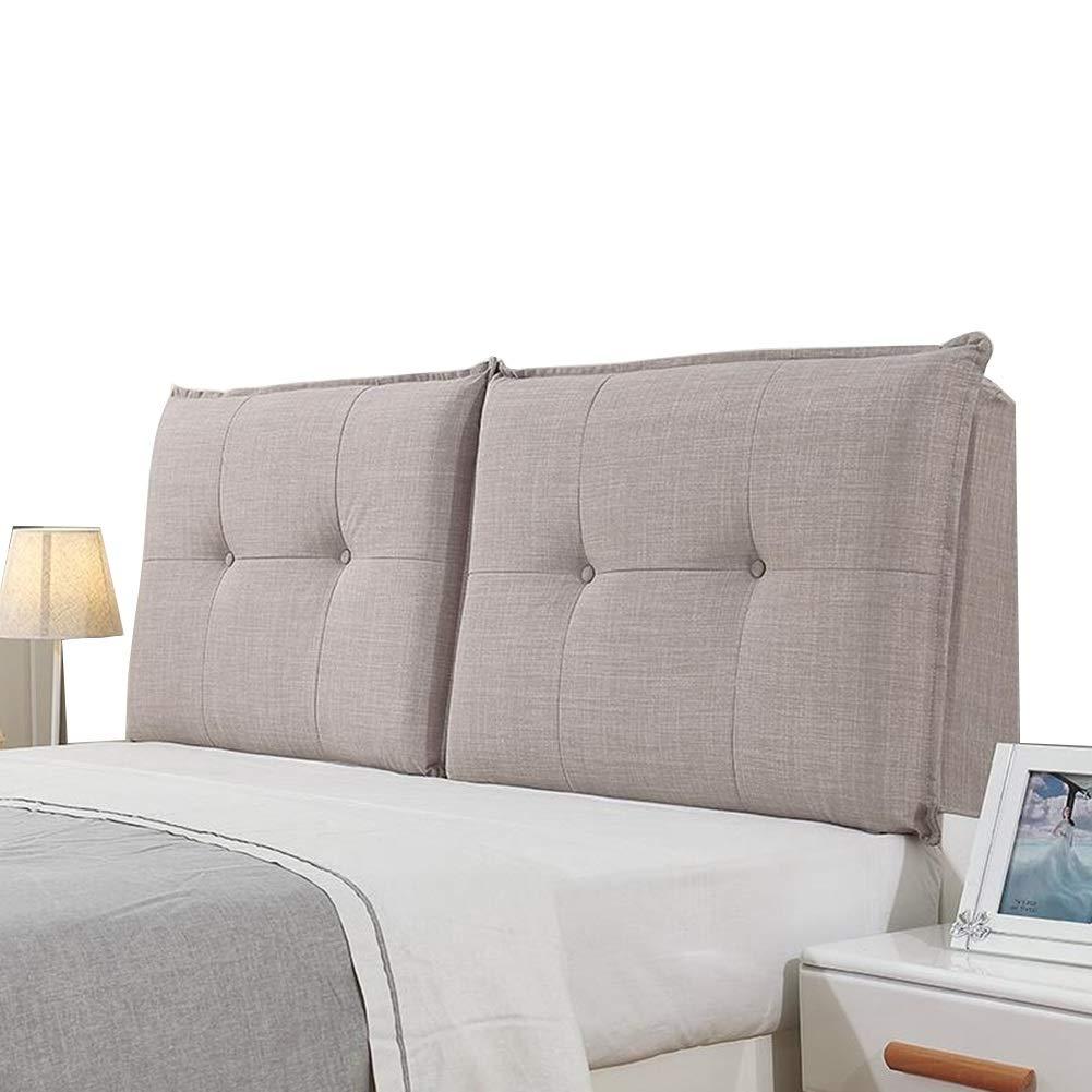 : サイズ 135x60x10cm B07LGCZMGS LIANGLIANG 135x60x10cm) クッションベッドの背もたれ : さいず 家庭用寝室ダブル人数エクストララージ快適なベッドサイドクッションソフトケースサポート布洗えるスポンジ、3色、19サイズ (色 Gray#A, Gray#A
