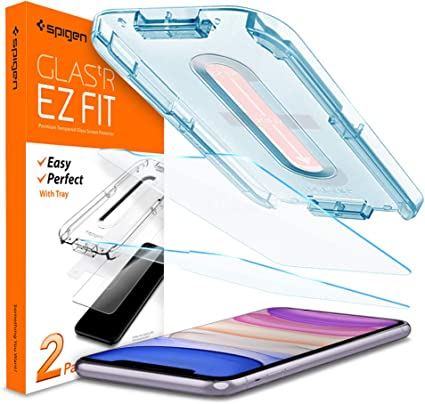 2020 /& 2018 Spigen Tempered Glass Screen Protector Designed for iPad Pro 11 9H Hardness//Case-Friendly