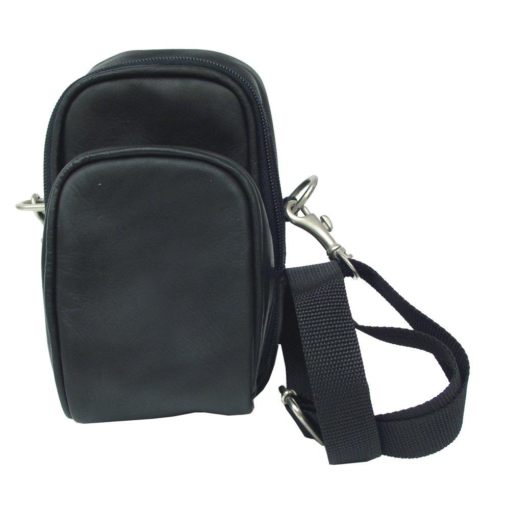 Piel Leather Camera Bag, Black, One Size