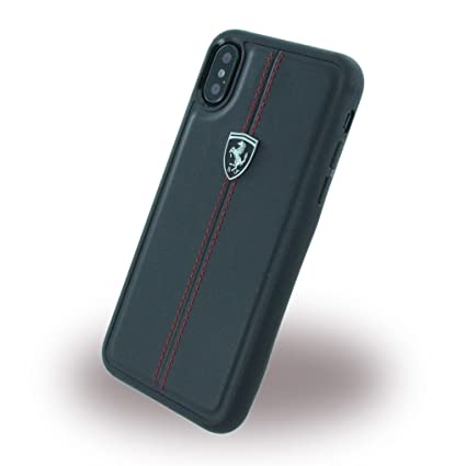 promo code 356a8 638d7 Ferrari Heritage Leather back cover case for iPhone X/ iPhone 10 (Black)
