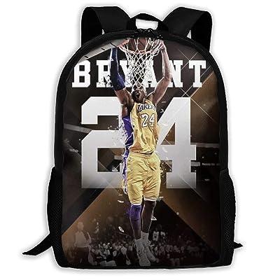 Ko-be Br-yant Boys Girls School Bag Backpack Bookbag College Shoulder Bag For Travel: Clothing
