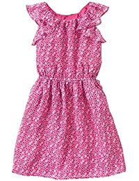 Gymboree Big Girls' Short Sleeve Small Floral Print Dress