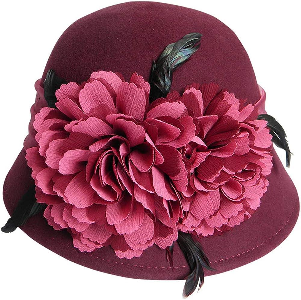 FADVES Women Wool Hat Wide...