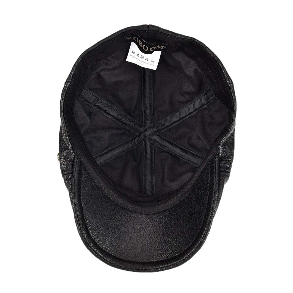 Keu/_20 Newsboy Caps Genuine Real Leather Flat Cap 6 Panel Design Cabbie Beret Hat for Men Women Newsboy 154 1 PCs