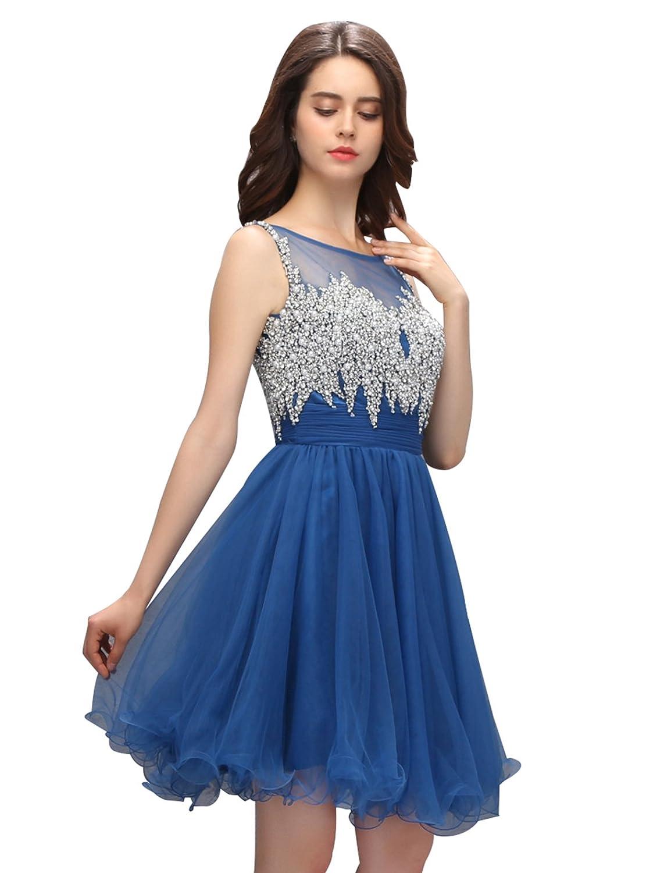 Dressystar? Sparkling Illusion Short Prom Homecoming Dress Open Back