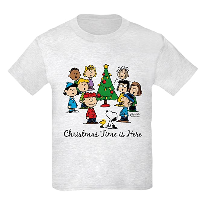 1c7d4f6f CafePress - The Peanuts Gang Christmas Time is Here T-Shirt - Kids Cotton T