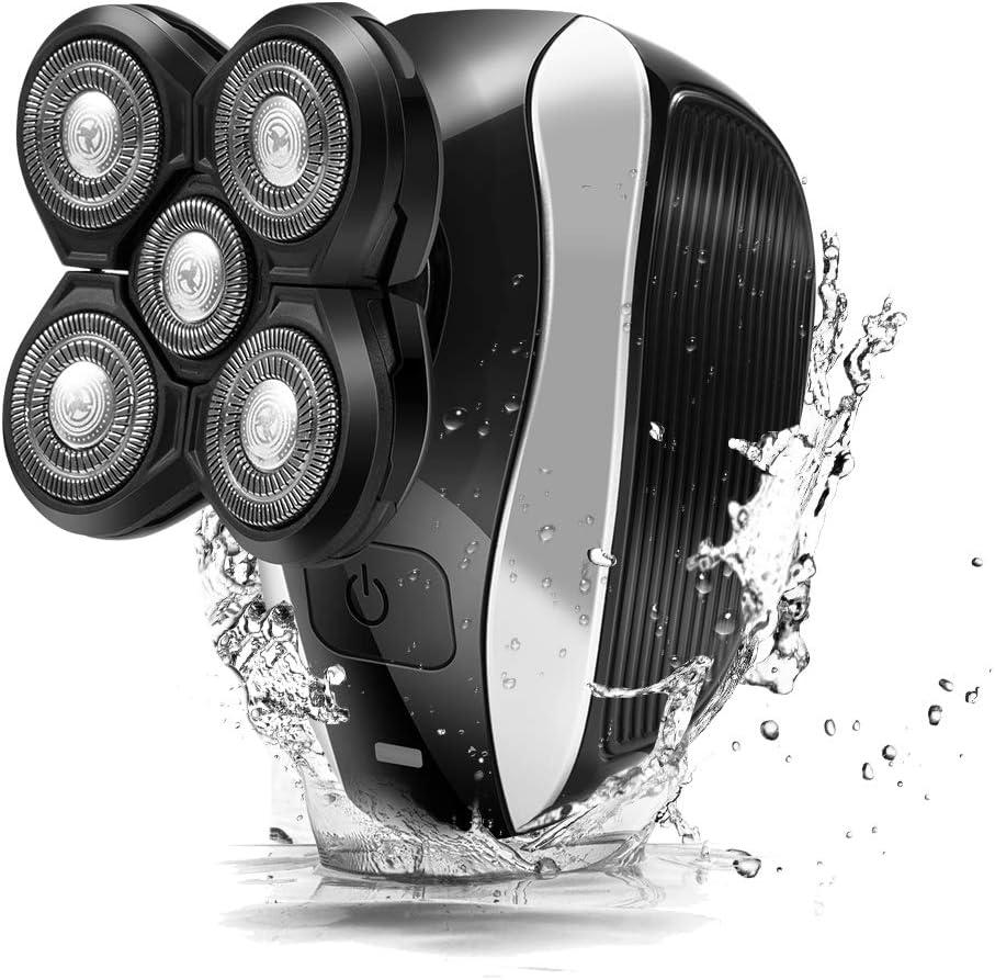 LARALA Máquina de Afeitar Eléctrica para Hombres, Afeitadora Eléctrica para Hombres, Máquina de Afeitar con Cabeza Calva